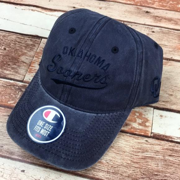 OU Oklahoma Sooners Blue Dad Strap Baseball Hat. NWT. Champion 9062932fd1e0